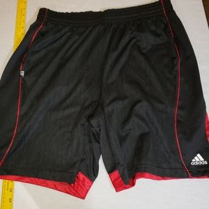 Adidas sz. Xl black/red mens athletic shorts